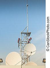 mellékbolygó, antenna, tető