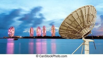 mellékbolygó, tengerpart, antenna