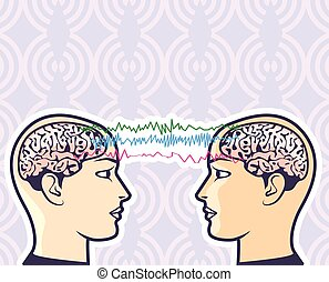 mellan, mänsklig, förstånd, telepati