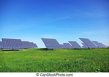 mellerst, av, photovoltaic, panels.