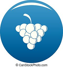 Mellow grape icon vector blue - Mellow grape icon. Simple...