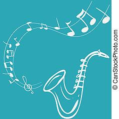 melodía, saxófono