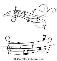 melodia, ligado, aduela
