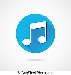 melodia, vetorial, ícone