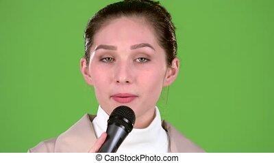 melodic, chante, chanteur, lent, song., screen., gai, vert, ...