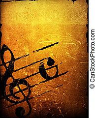 melodie, grunge, gewebe