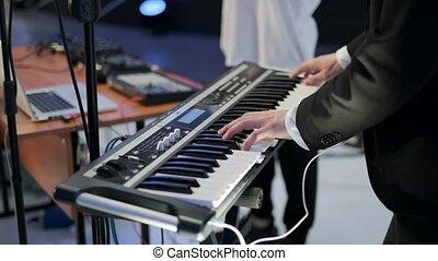 melodie, instrument, muzyk, elektronowy, muzyczny