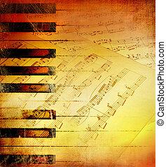 melodie, musikalisches, hintergrund