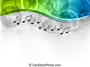melody background - green and blue melody background