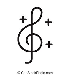 melody glyph flat vector icon