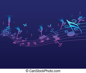 Melody, Music and Note Backround