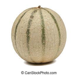 melon, ścieżka, biały, honeydew, odizolowany
