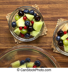 Melon and Berry Fruit Salad