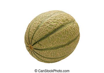 Beautiful photo melon aroma on a white background .