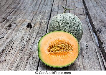 melon, cantaloup, tranches