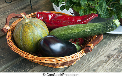 melon eggplant and other vegetables