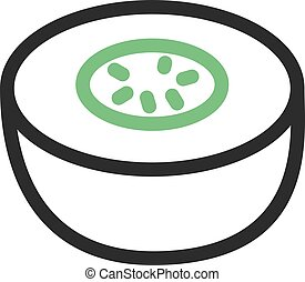 Melon, food, fruit icon vector image. Can also be used for ...