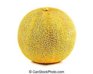 Melon fresh fruit isolated.