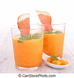 melon gazpacho and prosciutto