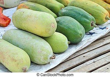 melon, hiver, marché