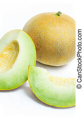 Melon honeydew and two melon slice