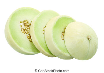 melon, honeydew, kromki