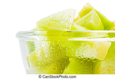 Melon honeydew portion
