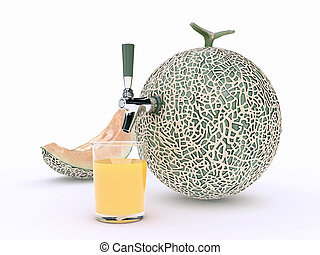melon juice - Design made in 3D