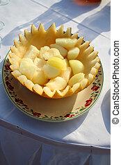 melon on Fourchette table