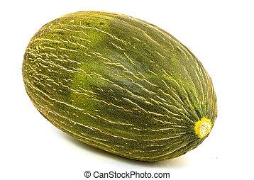 melone, sfondo bianco