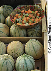 Melons at a French market