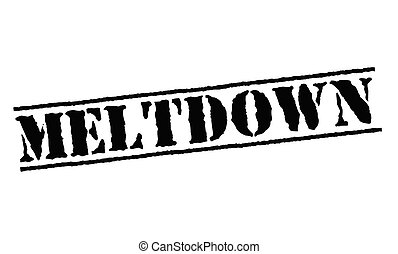 Meltdown typographic stamp. Black and red stamp series.