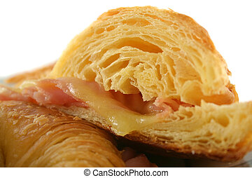 Melted Cheese Croissant 5 - Hot melted cheese and ham...