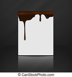 Melted Chocolate Dripping.