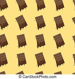 Melted chocolate seamless background