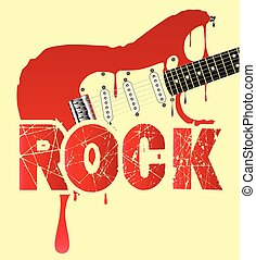 Melting Electric Rock Guitar