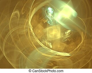 Melting gold - 3D rendering, very suitable as a background, ...