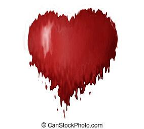melting heart - computer generated heart design