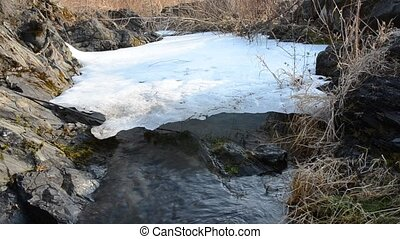 Melting ice, water video