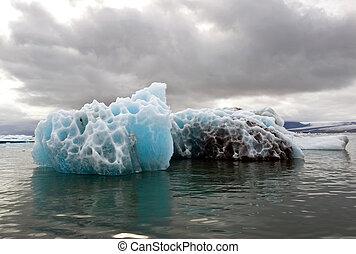 Melting Iceberg - A melting iceberg in the famous...