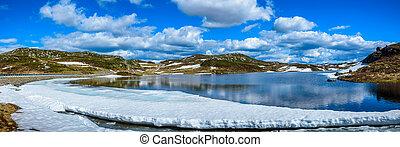 Melting lake in Norway