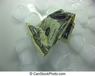 melting money and ice