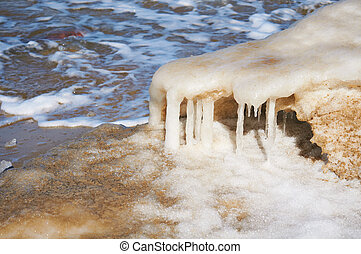 Melting of sea ice in the spring