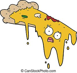 melting pizza cartoon
