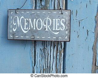 memórias, antigas