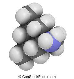 Memantine Alzheimer's disease drug, chemical structure....