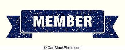 member grunge ribbon. member sign. member banner