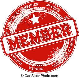 member grunge stamp vector