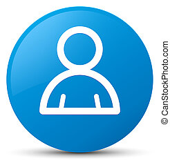 Member icon cyan blue round button