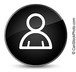 Member icon elegant black round button